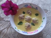 Zupa krem z dyni z klopsikami