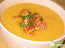 Zupa krem z dynią,papryką i boczkiem