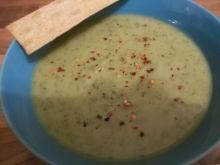 Zupa-krem z groszku, jarmużu z kokosem