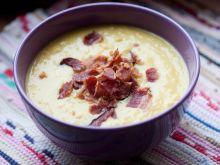 Zupa krem z kukurydzy z chrupiącym boczkiem