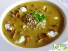 Zupa krem z kurkami i ryżem