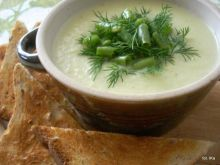 Zupa - krem z łodygi brokuła