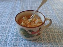 Zupa krem z marchwi, fasoli i gruszek