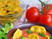 zupa krem z pomidorów z pierożkami