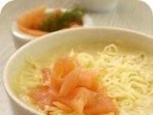 Zupa-krem z pora z łososiem
