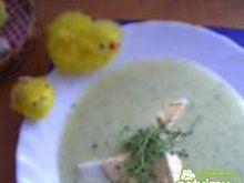 Zupa krem z rzeżuchą i jajkiem