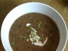 Zupa krem z selera z suszonymi grzybami