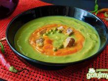 Zupa-krem z zielonego groszku i marchwii