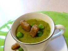 Zupa-krem z zielonego groszku z miętą
