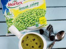 Zupa krem z zielonego groszku z truflami