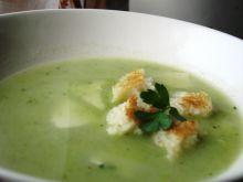 Zupa krem z zielonych i białych warzyw