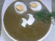 Zupa krem ze szczawiu z jajkiem