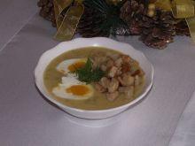 Zupa krem ziemniaczano koperkowy z jajkiem