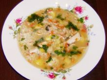 Zupa krupnik z kurczakiem