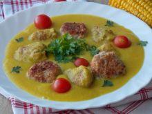 Zupa kukurydziana z klopsikami