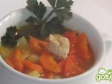 Zupa marchewkowa z kurczakiem