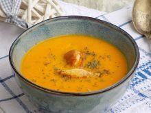 Zupa marchewkowa z mleczkiem kokosowym i filetem