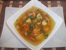 Zupa marchewkowo-pieczarkowa