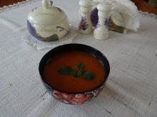 Zupa marchewkowo-pomidorowa z imbirem