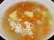 Zupa marchewkowo-ryżowa z lubczykiem