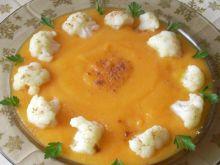 Zupa marchwiowo-dyniowa z kalafiorem