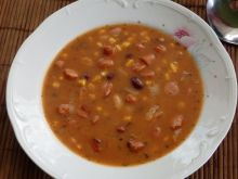 Zupa meksykańska z mini kiełbaskami