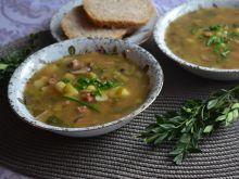 Zupa mięsna z pieczarkami i porem