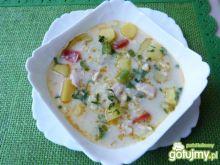 Zupa mix warzywny z ryżem i mięsem