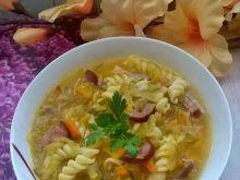 Zupa ogórkowa z dynią i makaronem