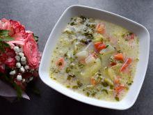 Zupa ogórkowa z kalarepą i papryką