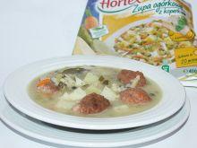 Zupa ogórkowa z koperkiem na wołowinie