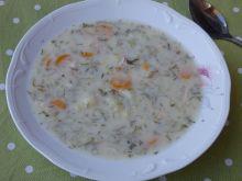 Zupa ogórkowa z marchewką i koperkiem