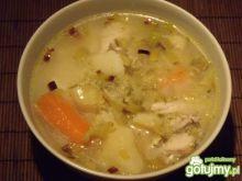 Zupa ogórkowa z porem