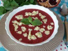 Zupa owocowa z mascarpone i lanymi kluseczkami