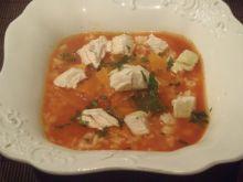 Zupa paprykowa z kurczakiem