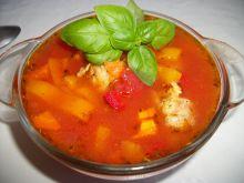 Zupa paprykowa z pulpetami