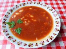 Zupa paprykowo-pomidorowa z fasolą