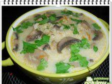 Zupa pieczarkowa Eli z ryżem