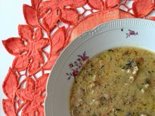 Zupa pieczarkowa z kaszą bulgur