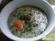 Zupa pieczarkowa z koperkiem, na żeberka