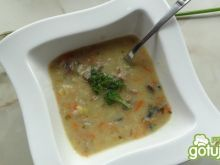 Zupa pieczarkowa z pieczenią