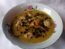 Zupa pieczarkowa z pulpecikami