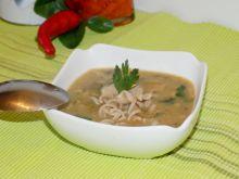 Zupa pieczarkowa z serem pleśniowym i makaronem
