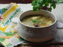 Zupa pieczarkowo - boczniakowa z lanymi kluseczkam