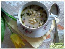 Zupa pieczarkowo-koperkowa z zacierką