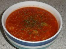 Zupa pomidorowa z kaszą