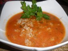 Zupa pomidorowa z kaszą jęczmienną