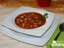 Zupa pomidorowa z kuleczkami mięsnymi 4