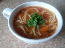 Zupa pomidorowa z porem i miętą
