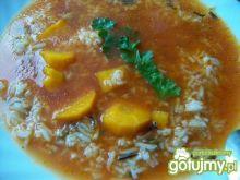 Zupa pomidorowa z ryżem basmati z dzikim